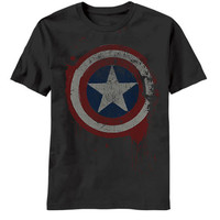 Captain America Freedom From Fear Mens T-Shirt
