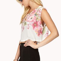 Floral Watercolor Crop Top | FOREVER 21 - 2000111581