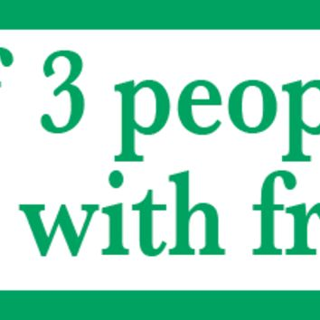 Trouble with Fractions Bumper Sticker