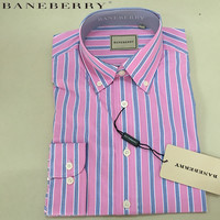Spring and Autumn New  brand men's Business blouse BANEBERRY cotton Casual stripe shirt Man long sleeve shirts Large size XS-3XL