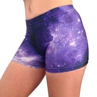 Galaxy Basic Shorts (Purple/Black, 2.5 in. Adult S 4-6)