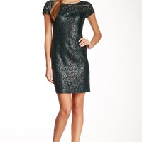 Lace Seamed Bodycon Dress