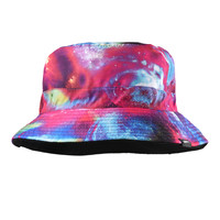 Reversible Galaxia Pink Bucket Hat