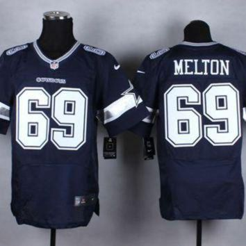DCCK8X2 Nike Dallas Cowboys #69 Henry Melton Navy Blue Team Color NFL Elite Jersey