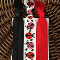 The Ladybug Elastic Hair Ties (and bracelets) Collection