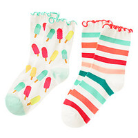 Popsicle Ruffle Socks Two-Pack