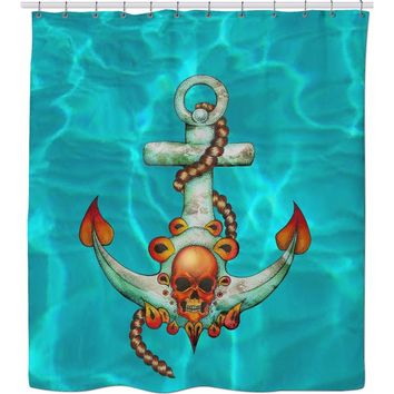 ROSC Sea Monster Shower Curtain