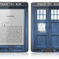 Amazon Kindle Touch Paperwhite Skin Cover - Police Public Call Box GLOSSY MATTE LEATHER option