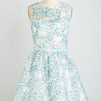 Short Length Sleeveless Fit & Flare Cherished Occasion Dress by ModCloth