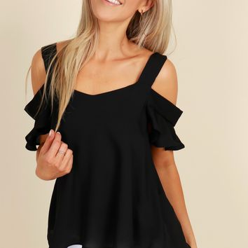 Time To Shimmy Blouse Black