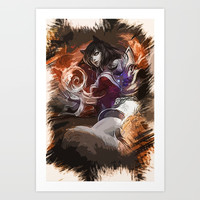 League of Legends Ahri Art Print by naumovski