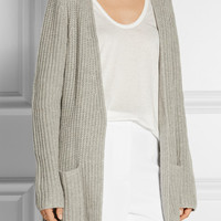 Michael Kors Collection - Ribbed cashmere and linen-blend cardigan