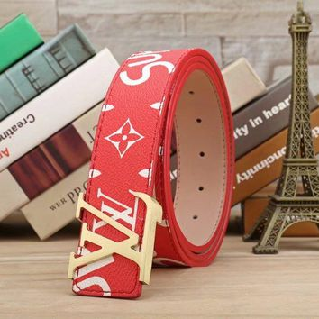 LV Supreme Woman Fashion Smooth Buckle Belt Leather Belt H-A-GFPDPF