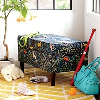 Upholstered Storage Bench w/Legs (Folkland Admiral) | The Land of Nod