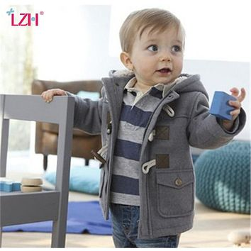 Infant Baby Jacket 2018 Autumn Winter Jacket For Boys Coats Kids Warm Hooded Outerwear Coat For Baby Boys Jacket Newborn Clothes