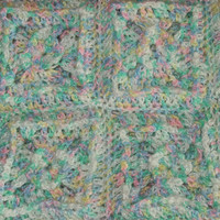 Baby Afghan Pastel Puffed Granny Square
