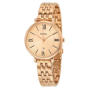 Fossil Womens ES3435 Rose Gold with Roman Numeral Markers Watch