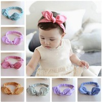 Knot Rabbit ears Elasticity Headband Baby Girls Hair Accessories