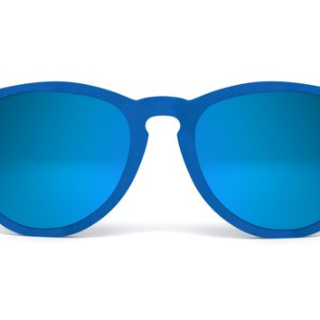 Velvet Sunglasses - Circular Keyhole - Light Blue