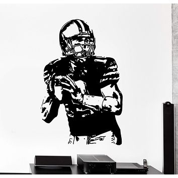 Wall Decal Football Player Sport Super Bowl Decor Unique Gift z3991