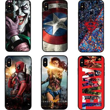 Deadpool Dead pool Taco /iron Man/ Marvel Avengers KingKong Star Wars Phone Hard PC Phone Case For iPhone 5 5s SE 6 6s Plus 7 7Plus 8 8Plus X 10 AT_70_6