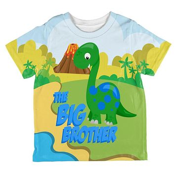 The Big Brother Dinosaur All Over Toddler T Shirt