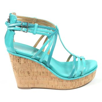 Nine West Womens Espadrille Wedge Sandal NWROMANCING TURQU MU Y