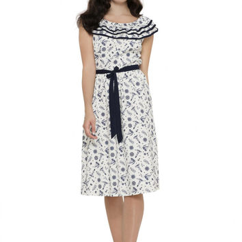 Voodoo Vixen At Sea Magdalena Flare Dress