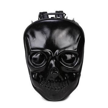 Skull Rock Style Women Leisure Bag