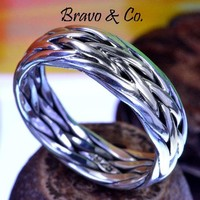SIZE 13 Solid Sterling Silver Wedding Engagement Promise Thumb Men Ring R-207