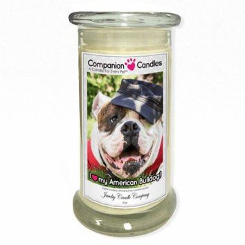 I Love My American Bulldog! - Pet Photo Companion Candles - Pet Lover Gifts