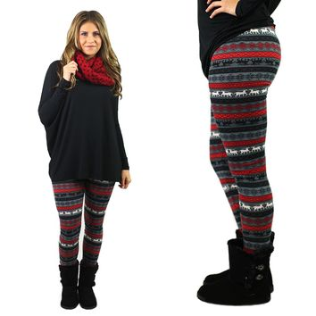 Rudolf The Reindeer Patterned Leggings