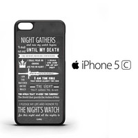 Game Of Thrones Quotes Lannister Stark iPhone 5C Case