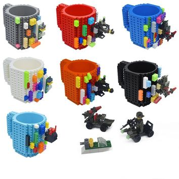 Building Blocks Mugs DIY Coffee Cup Block Puzzle Mug Personality Water Cup Build On Brick Mug