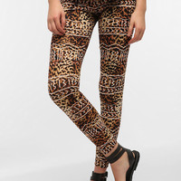 Urban Outfitters - Truly Madly Deeply Leopard Lines High Rise Legging