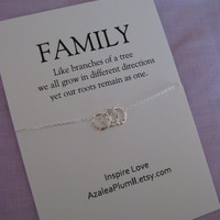 Family Tree. Mom. Gift for MOM. New Grandma Gift. Mommy Jewelry. Grandmother Gift. Family Inspirational Necklcae