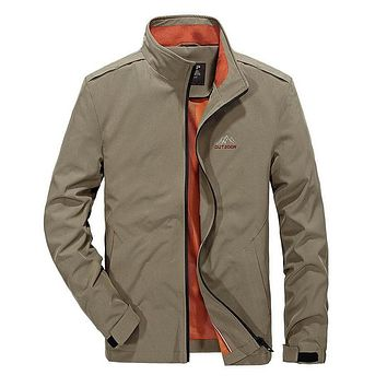 Men Casual Windbreaker Military Slim Jackets