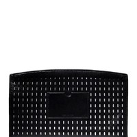 Reed Krakoff Perforated Leather Pouch - Black Leather Clutch - ShopBAZAAR