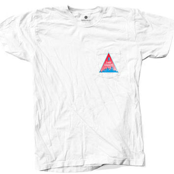 Surf Queens Pocket White T-Shirt