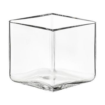 Ruutu Vase Small in Clear - Pop! Gift Boutique