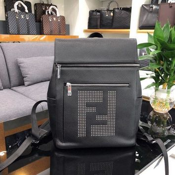 PEAP FENDI MEN'S LEATHER BACKPACK BAG