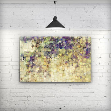 Grungy Abstract Purple Mosaic - Fine-Art Wall Canvas Prints