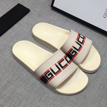 GUCCI Sandals Slippers Sliders Summer Shoes GG Flip Flop-13