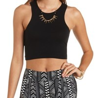 Fitted Racer Front Crop Top