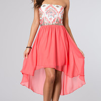 High Low Strapless Dress by As U Wish