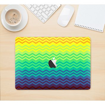 "The Rainbow Thin Lined Chevron Pattern Skin Kit for the 12"" Apple MacBook"