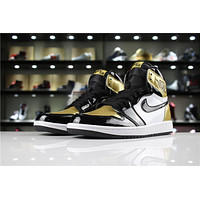 Air Jordan 1 Retro High OG AQ7474-001 Black/Gold