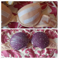 Special offer Mermaid fantasy shell bra and rhinestone base costume size 32A-36C