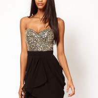 Lipsy VIP Sequin Bust Dress at asos.com