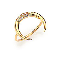 Jacquie Aiche - Diamond & 14K Yellow Gold Crescent Ring - Saks Fifth Avenue Mobile